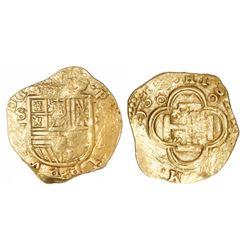 Seville, Spain, cob 2 escudos, 1613V.