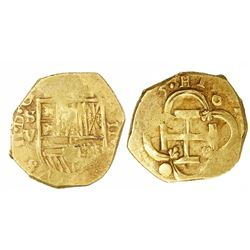 Seville, Spain, cob 2 escudos, (161)5V.