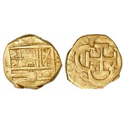 Seville, Spain, cob 2 escudos, 161(?), assayer not visible.