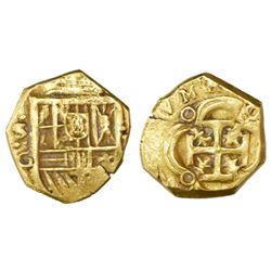 Seville, Spain, cob 1 escudo, Philip III, assayer G.