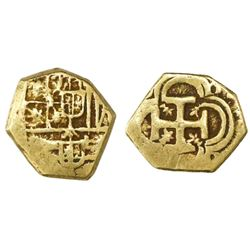 Seville, Spain, cob 1 escudo, Philip IV, assayer not visible.