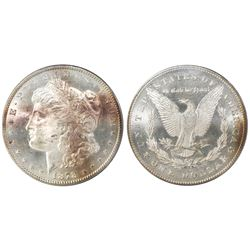 USA (Carson City mint), $1 Morgan, 1878-CC, tilted right CC (VAM 9), PCGS MS 63.