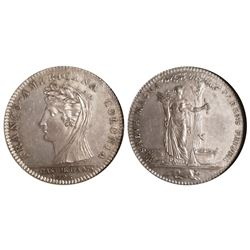 Castorland, New York (struck at the Paris Mint), USA, silver medal, 1796 (restrike ca. 1850s), thin