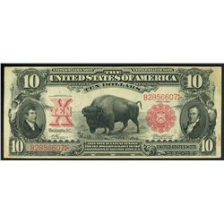 USA (Washington, D.C.), Legal Tender, $10, 1901, Vernon-Treat, serial B2856607.