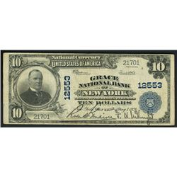 USA (Washington, D.C.), Grace National Bank of New York, New York, $10, Speelman-White, 7-5-1924, ch