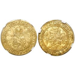 Anglo-Gallic Aquitaine (struck in Bordeaux, France, 1362-72), 1 hardi d'or, Edward the Black Prince,