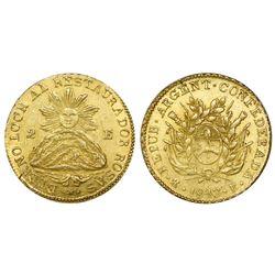 Argentina (La Rioja mint), 2 escudos, 1843RB, PCGS MS 62.