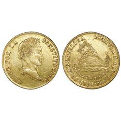 Potosi, Bolivia, 8 scudos, 1854M.