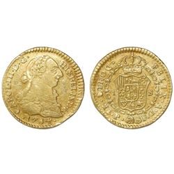 Popayan, Colombia, bust 1 escudo, Charles III, 1784SF.