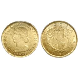Bogota, Colombia, 8 escudos, 1826JF, PCGS AU55.