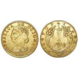 Popayan, Colombia, 8 escudos, 1835UR.