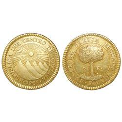 Costa Rica (Central American Republic), 2 escudos, 1835F.