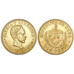 Cuba, 2 pesos, 1916.