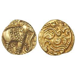 "India (Gangas of Talakad), ""elephant"" pagoda, 1100-1327 AD, elephant right, NGC MS 62."