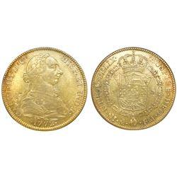Mexico City, Mexico, bust 8 escudos, Charles III, 1772FM, NGC AU 53.