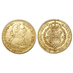 Mexico City, Mexico, bust 2 escudos, Charles III, 1781FF/FM.
