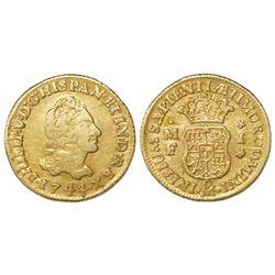 Mexico City, Mexico, bust 1 escudo, Philip V, 1744MF.