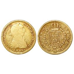Mexico City, Mexico, bust 1 escudo, Charles III, 1779FF.