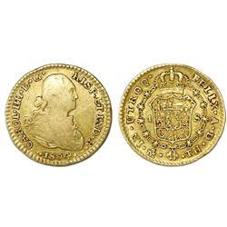 Mexico City, Mexico, bust 1 escudo, Charles IV, 1804TH.