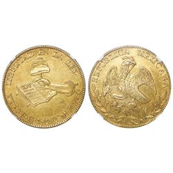 Guanajuato, Mexico, 8 escudos, 1832MJ, NGC AU 58, Bevill Plate.