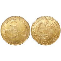 Guanajuato, Mexico, 8 escudos, 1850PF, NGC MS 61.
