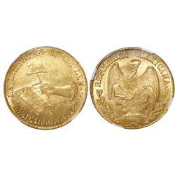 Durango, Mexico, 8 escudos, 1856CP, NGC MS 61.
