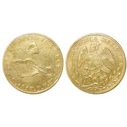Guanajuato, Mexico, 8 escudos, 1857PF.