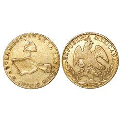 Guanajuato, Mexico, 8 escudos, 1870FR.