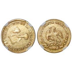 Guanajuato, Mexico, 1 escudo, 1862YE, NGC AU 55.