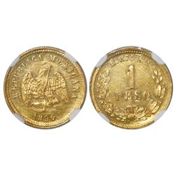 Culiacan, Mexico, 1 peso, 1896/5M, NGC MS 62.