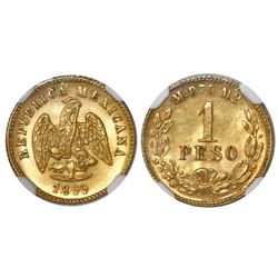 Mexico City, Mexico, 1 peso, 1899M, MS 63+.