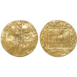 Holland, Netherlands, ducat, 1802, no star (Dordrecht mint).