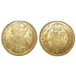 Lima, Peru, bust 8 escudos, Charles III, 1784MI.