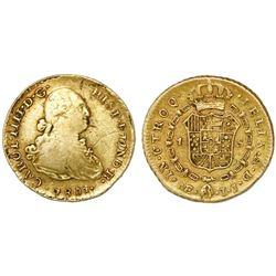 Lima, Peru, bust 1 escudo, Charles IV, 1801IJ.
