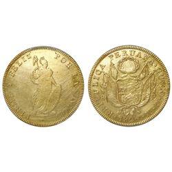 Cuzco, Peru, 8 escudos, 1826GM, PCGS VF details / tooled.