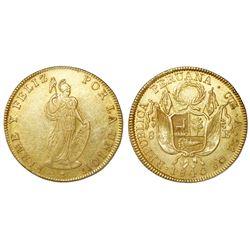 Cuzco, Peru, 8 escudos, 1840A.