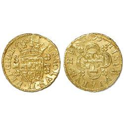 Seville, Spain, milled 1 escudo, Charles II, 1699M, legend GRAT.