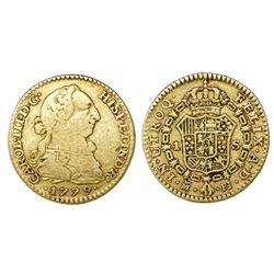 Madrid, Spain, bust 1 escudo, Charles III, 1779PJ.