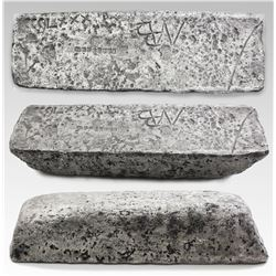 Large silver bar #563 from Oruro, 93 lb 3.36 oz troy, Class Factor 0.7, with markings of manifest CC