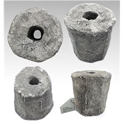 "Silver ""piña"" ingot, 4312 grams, marked with fineness IIUCCCLXXX (2380/2400 = 99% fine) and serial n"