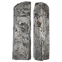 Neatly formed silver ingot, 1955 grams, about 98.5% fine, with stamps of the Zeeland chamber of the
