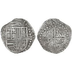 Potosi, Bolivia, cob 8 reales, 1619T, Grade 1, ex-San Diego Show Plate Coin.