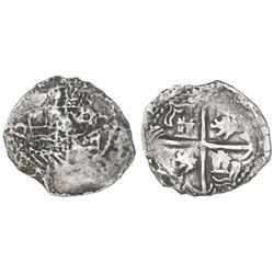Potosi, Bolivia, cob 2 reales, Philip III, assayer Q, Grade 3.
