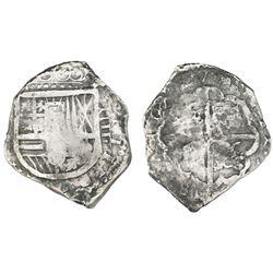 Spain (mint uncertain), cob 4 reales, Philip III, assayer not visible, Grade 1.