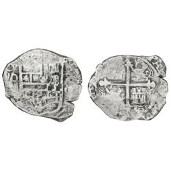 Mexico City, Mexico, cob 8 reales, (16)20(D), Grade 2, NGC Sao Jose / shipwreck effect.