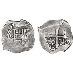 Mexico City, Mexico, cob 4 reales, 1620/19(D), rare.