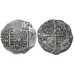 Mexico City, Mexico, cob 4 reales, 1620D, rare, ex-Spink.