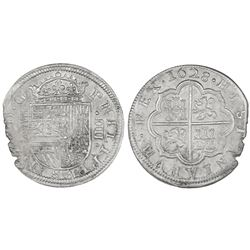 Segovia, Spain, milled 4 reales, Philip IV, 1628P.