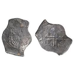 Mexico City, Mexico, cob 8 reales, Philip IV, assayer P.