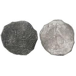 Mexico City, Mexico, cob 4 reales, 1637(P), full date (rare).